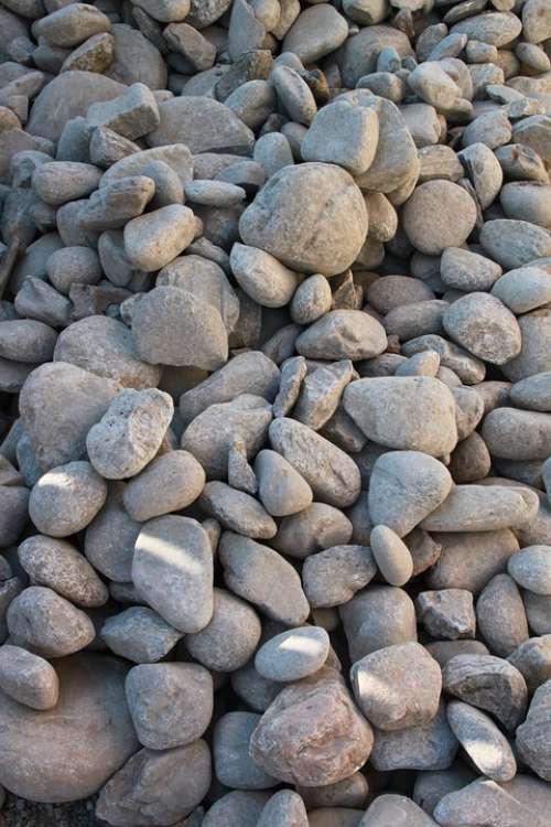 Boulders Close-Up Pebbles Pile Rocks Round Stones