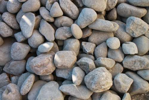 Boulders Close-Up Pebbles Pile Rocks Round Stones