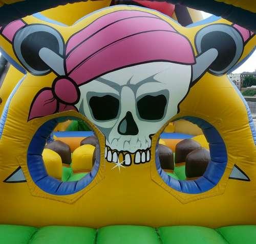 Bouncy Castle Pirate Air Cushion Play Pirate Ship
