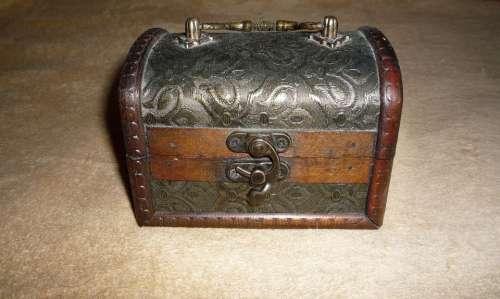 Box Treasure Wooden Antique Vintage Chest