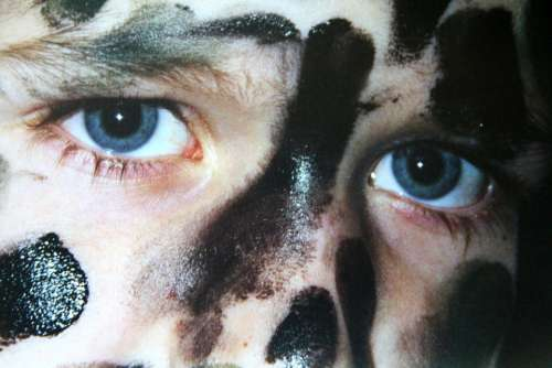 Boy Eyes Face Camouflage Melted Human