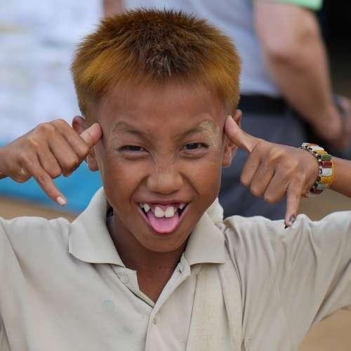 Boy Burma Making A Face Cheeky Students Portrait