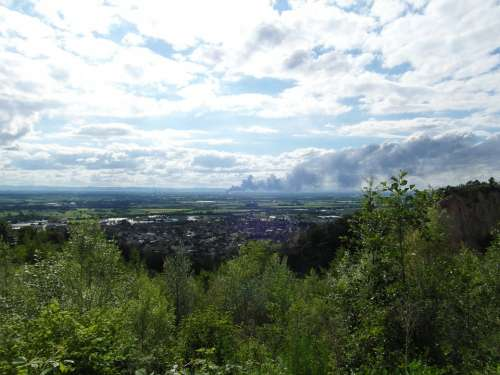 Brand Rhine Valley Ludwigshafen Cloud Of Smoke