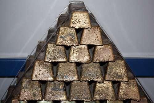 Brass Block Stack Bars Shiny Special Cast Brass