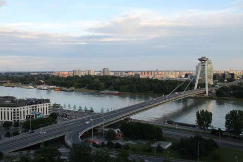 Bratislava Slovakia Danube Bridge
