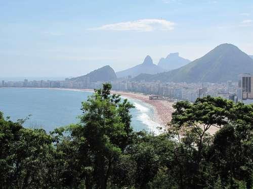 Brazil Rio De Janeiro Rudder Mar Beach Green