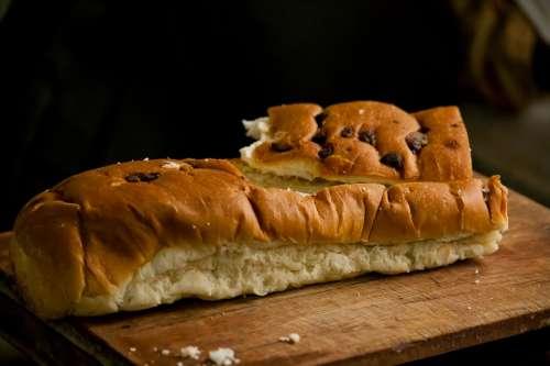 Bread Loaf Cut Bakery Food Brown