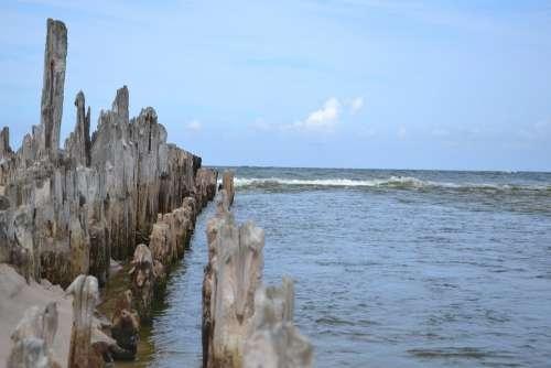 Breakwater Sea Of The Sea Pale Water