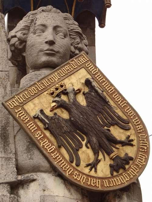 Bremen Roland Statue Landmark Coat Of Arms