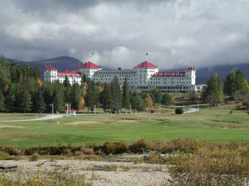 Bretton Woods Resort New Hampshire Cloudy Trees
