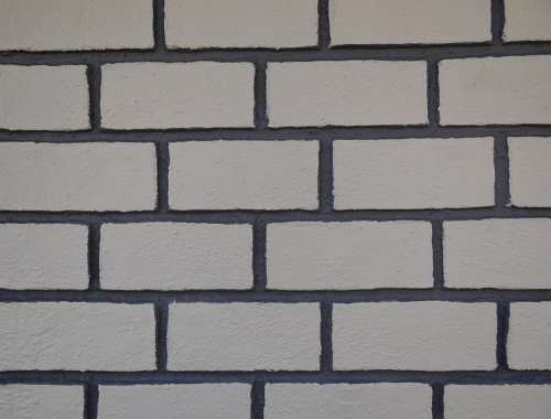 Brick Wall Grooved Painted Dharwad India