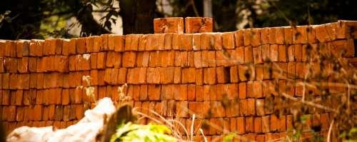 Bricks Wall Fabrication Factory Stone Building