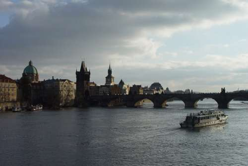 Bridge Architecture Water River Prague
