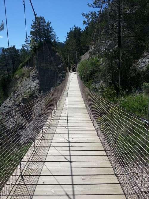 Bridge Suspension Bridge Path