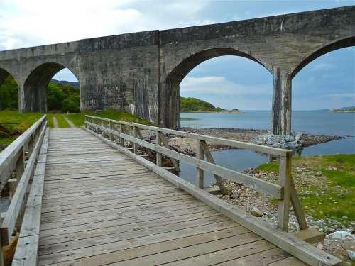 Bridge Arch River Scenery Landscape Nature Arches