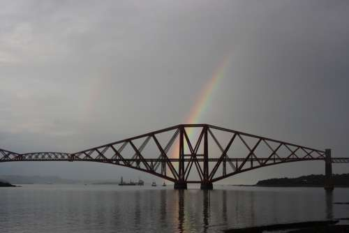 Bridge Scotland Rainbow Scottish Landmark
