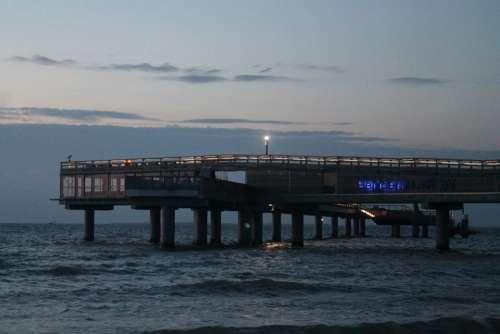 Bridge Twilight Dusk Water Abendstimmung Sky Sea