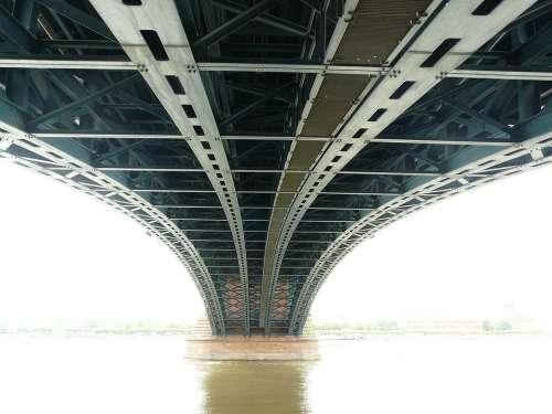 Bridge Steel Bridge Metal Rods Construction