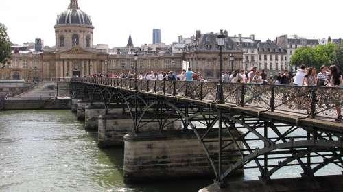Bridge Paris Padlock Pont Des Arts Love