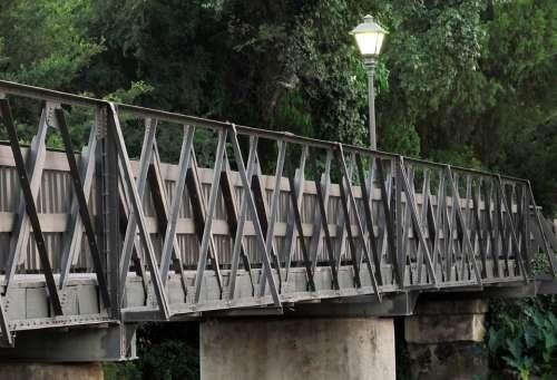 Bridge Wood Steel Wooden Footbridge Water