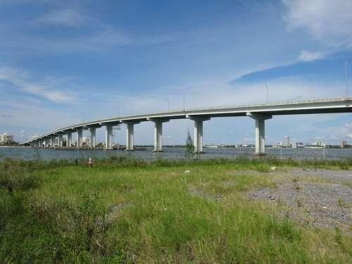 Bridge Mar Ocean Landscape Clearwater