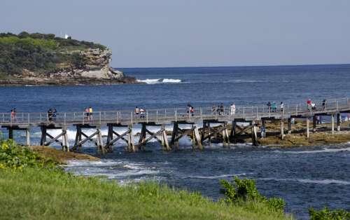 Bridge Sea Ocean Landscape Coast Scene