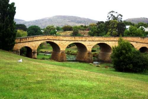 Bridge Arches Structure Sandstone Tasmania