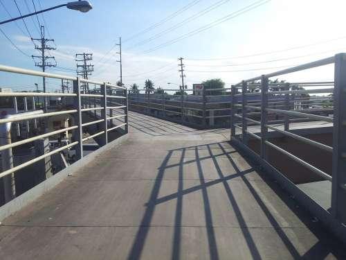 Bridge Walkway Footbridge Outdoor Path Perspective