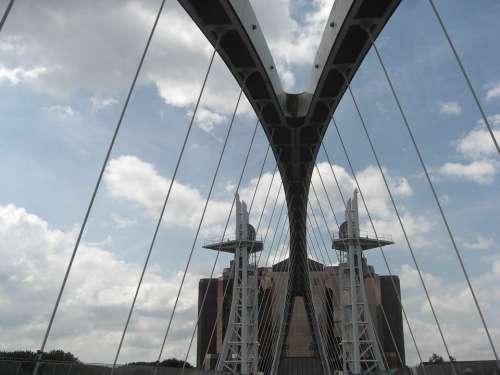 Bridge Sky Architecture Landmark Urban Cityscape