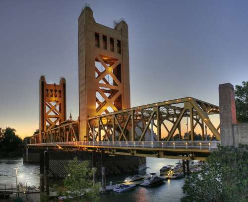 Bridge River Tower Bridge Sacramento California
