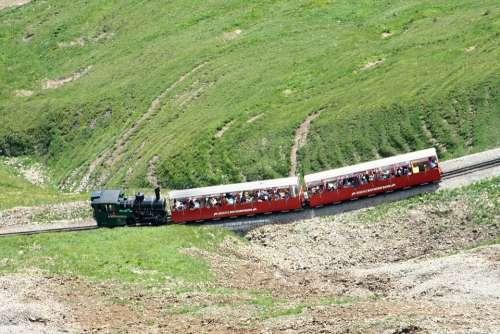 Brienz Rothornbahn Red Horn Steam Locomotive Train