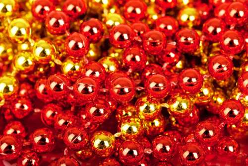 Bright Circle Balls Ball Decoration Red Round