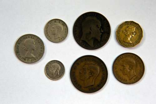 British Coinage Obverse Faces Pre-Decimalisation