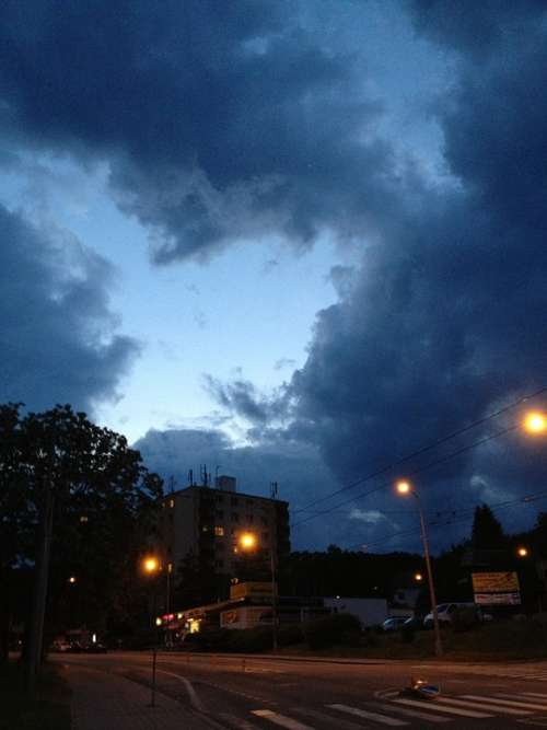 Brno Czech Republic Sky Outside Storm Clouds