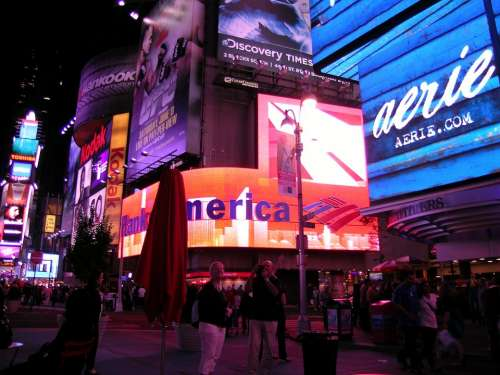 Broadway New York Time Square Manhattan Nigh