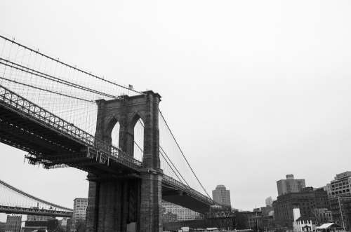 Brooklyn Bridge Bridge New York Manhattan River