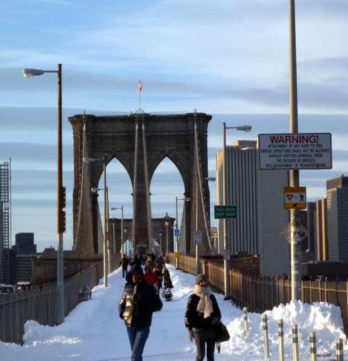 Brooklyn Bridge New York City Urban Landmark Famous