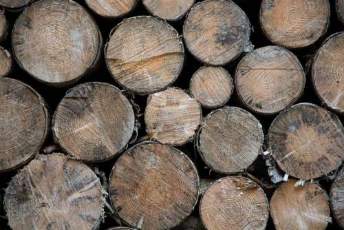 Brown Wood Spar Round District Stacked Nature