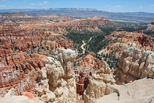 Bryce National Park Scenery Landscape Bryce Nature