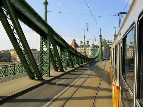 Budapest Electric Bridge Liberty Bridge Tracks