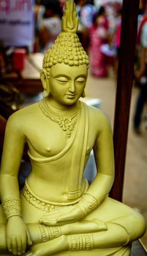Buddha Buddha Head Monastery Buddhism Statue Gold