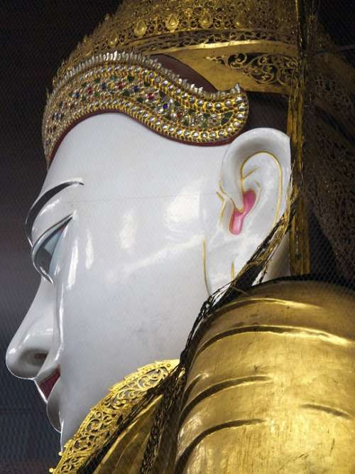 Buddha Statue Religion Temple Face Buddhism