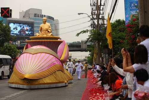Buddha Monk Gold Buddhism Meditation Thailand