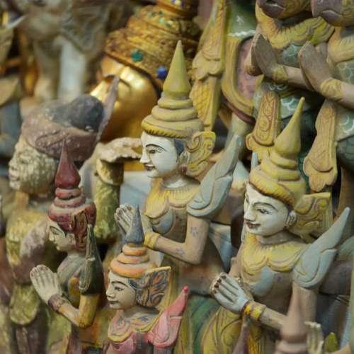 Buddha Myanmar Temple Figure Burma Buddhism