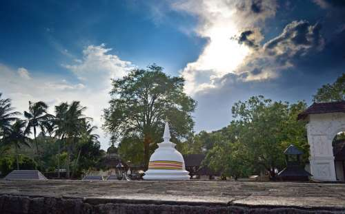 Buddhist Temple Temple Shrine Sri Lanka Ceylon