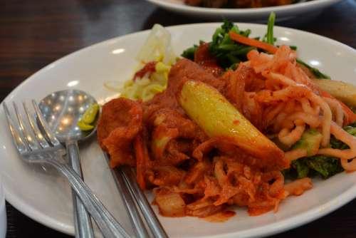 Buffet Food Kimchi