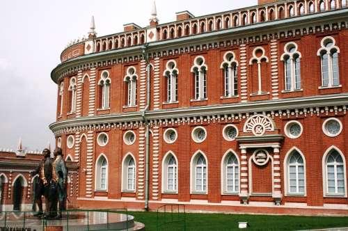 Building Decorative Ornate Red Brick Windows