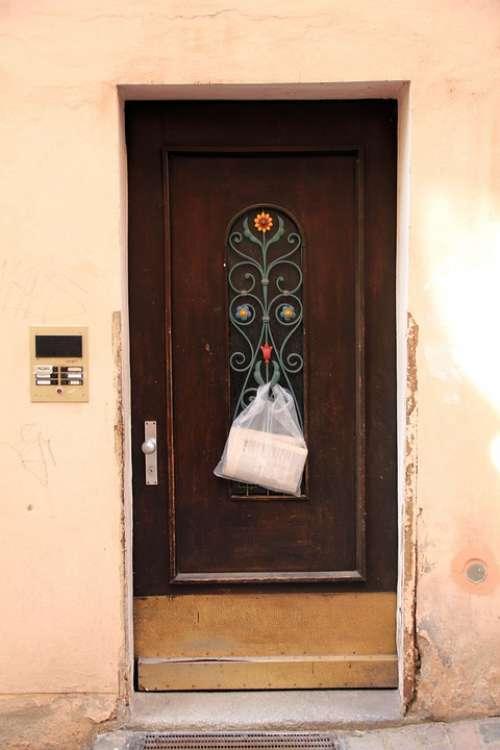 Building House Door Front Door Decor Newspaper