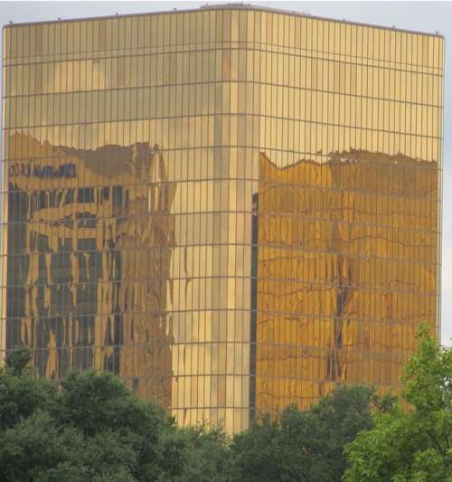 Building Golden Reflection Reflective Glass