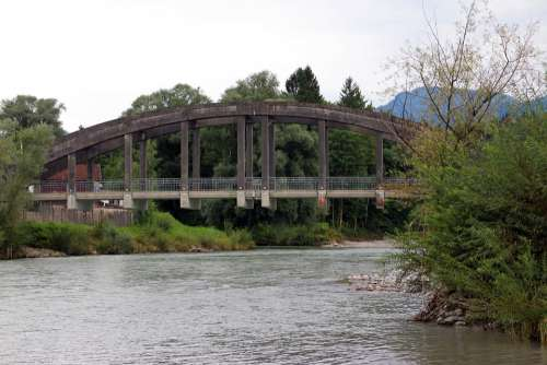 Building Bridge Traffic Route Ferroconcrete